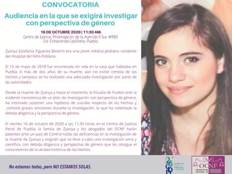 COMUNICADO   Fiscalía de Puebla debe investigar con perspectiva de género: OCNF.