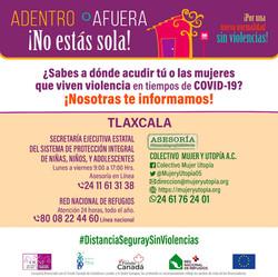 ¿Sabes a dónde acudir tú o las mujeres que viven violencia en tiempos de #COVID19?
