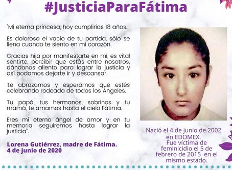 COMUNICADO | Sin reparación del daño familia de niña víctima de feminicidio en EDOMEX.
