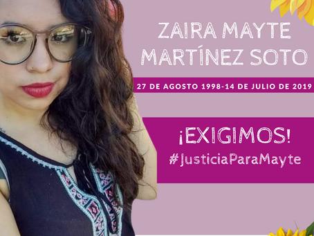 COMUNICADO | OCNF,  JPP y CDD exigen juicio con perspectiva de género y #JusticiaParaMayte