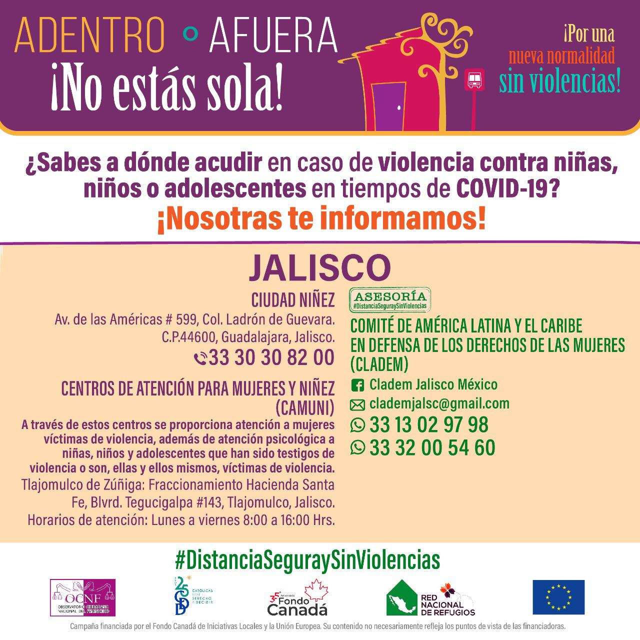 ¿Sabes a dónde acudir en caso de violencia contra niñas, niños o adolescentes en tiempos de COVID-19