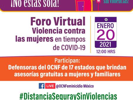 COMUNICADO | En medio de COVID 19, mujeres siguen siendo violentadas: OSC