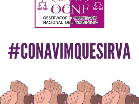 COMUNICADO   OCNF pide a CONAVIM saldar deuda histórica con las mujeres en México.