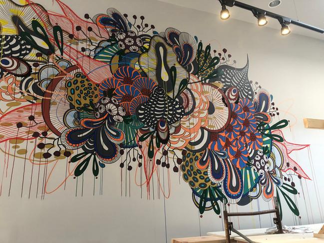 Drip Cafe Mural B/Spoke Wellesley Blind Fox Art