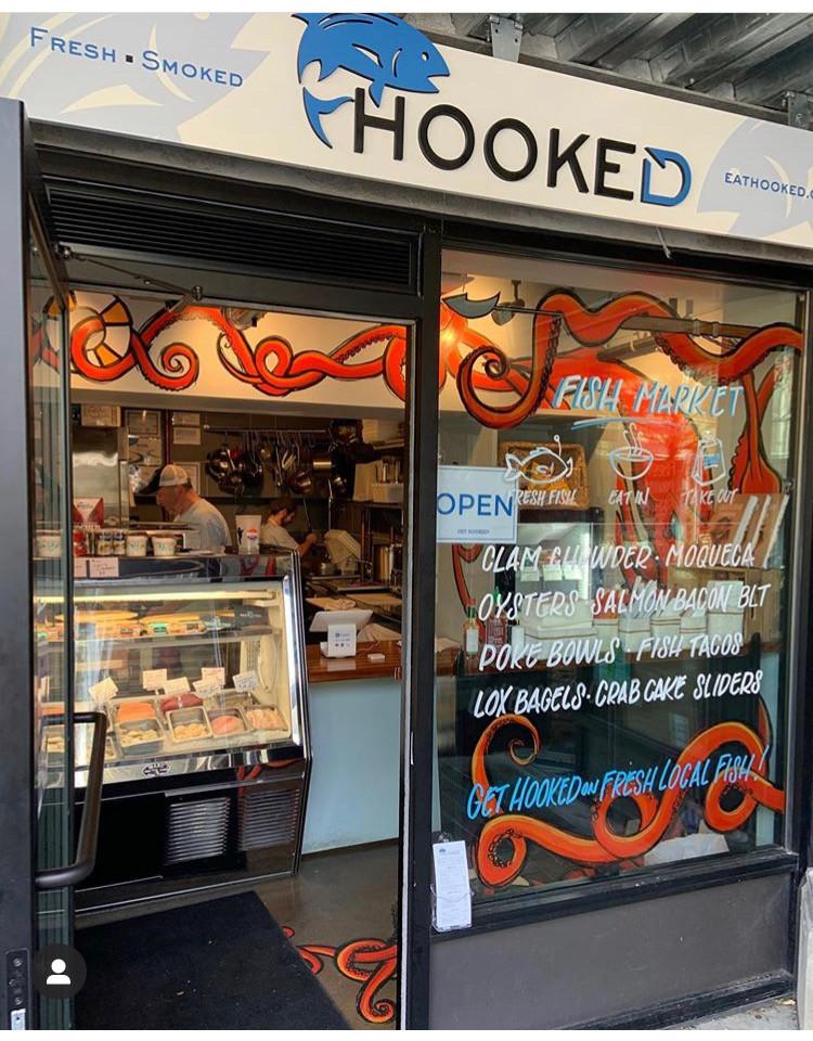 Hooked Fish Shop Bow Market Somerville Blind Fox Art Mural