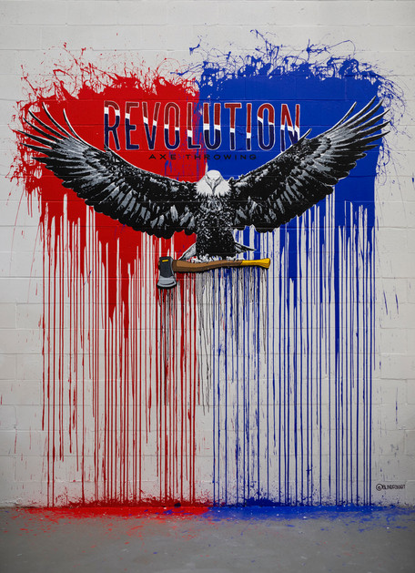 Revolution Axe Mural Blind Fox Art
