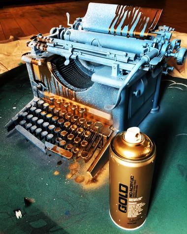 Six West embellished type writers