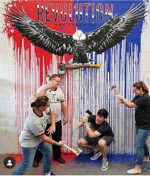Revoution Axe Everett Mural Selfie Wall Blind Fox Art