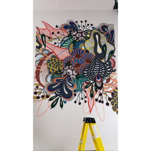 Drip Cafe Mural - Blind Fox