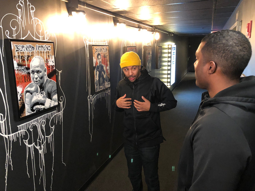 Everybody Fights George Foreman and Andre Ward boxing art