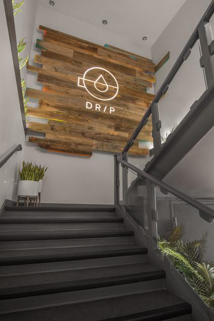 Drip Cafe B/Spoke embellished wall