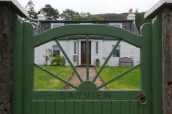 Bayview through the gate