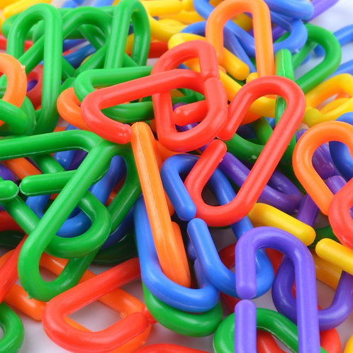 50 Piece Plastic C-Clips Hooks Chain Links C-Links