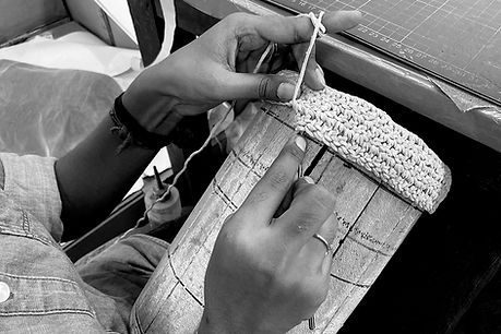 handwoven leather