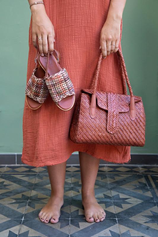 Shoes: Hope Flower Earth; Bag: Kirsten Small DJ Terra