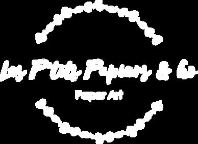 Logo Les P'tits Papiers Blanc sans fond.