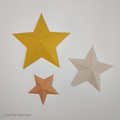 Lot de 5 d'étoiles (différentes tailles)