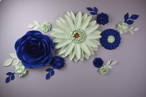 Composition La Vie en Bleu et en Pistache