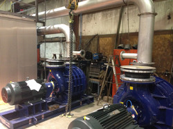 Combustion Air blower mock installation.