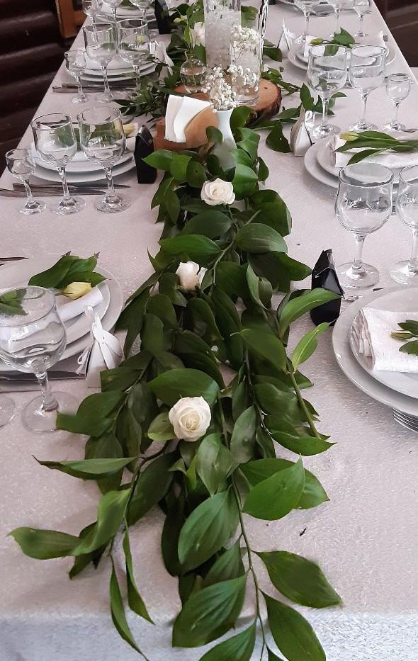 Украшение гостевых столов на свадьбу в Киеве