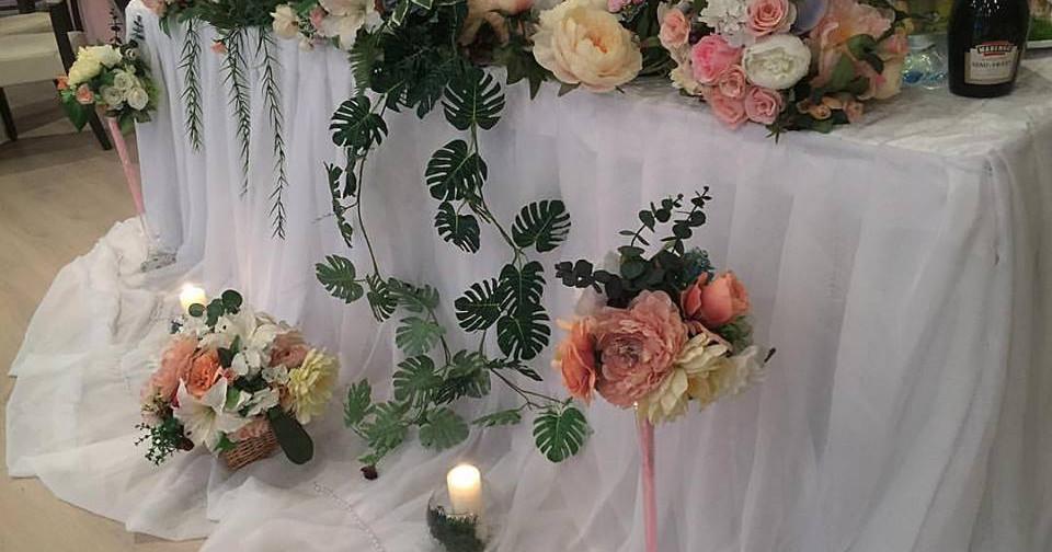 Украшение свадебного стола в Киеве