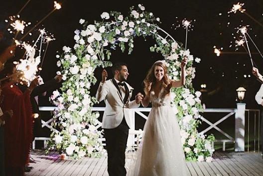 Вечерняя свадебная церемония Киев