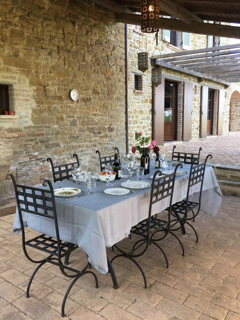 Table for 8 under the loggia