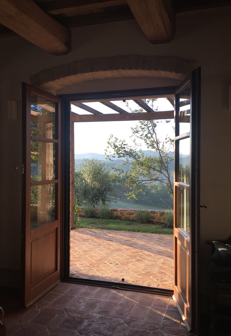 Doors out onto the terrace