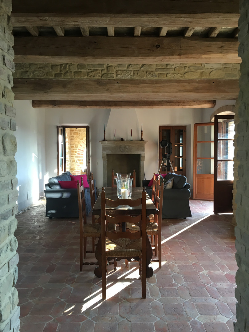 Downstairs living/dining room
