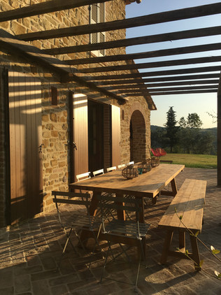 Pergola table for al fresco meals