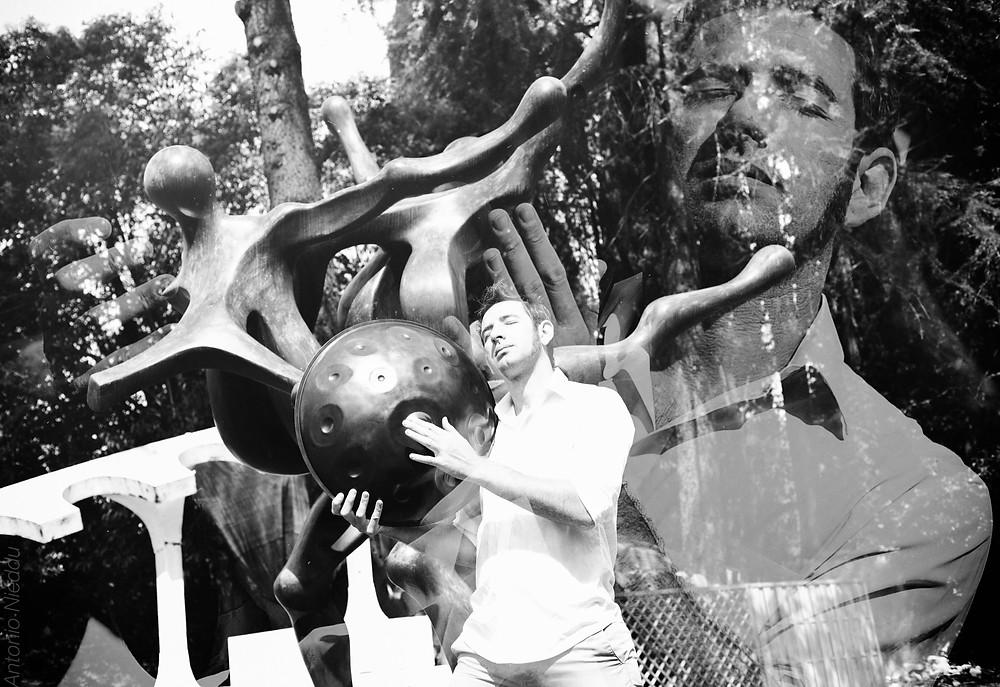 Handpan tra le sculture di Cavallini nella sua casa museo a Pian del Mugnone - Firenze
