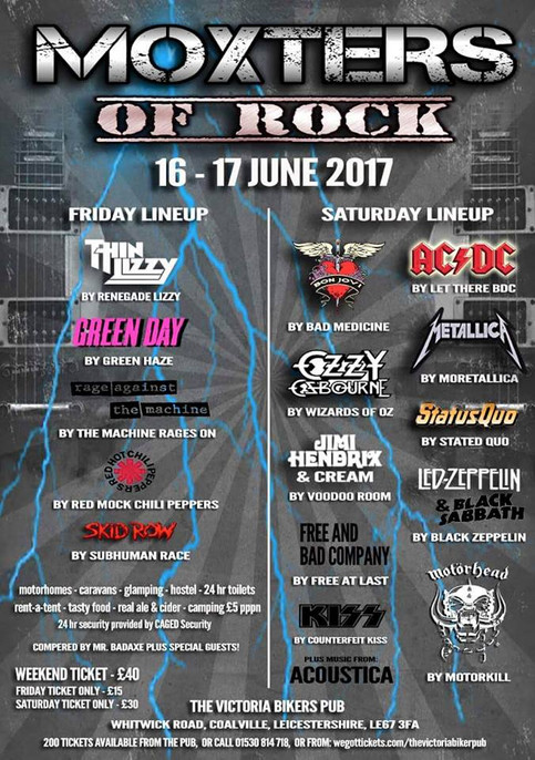 'Moxsters of Rock' 2017 lineup announced!