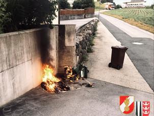 24.06.2021 - Brand einer Biomülltonne
