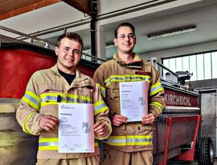 2 neue Bootsführer für die FF Kirchbichl