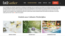 Website Eat2Gather culinair organisatiebureau