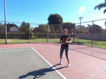 Two-handed backhand