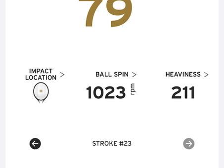 Tried out tennis sensor - 79 mph