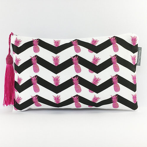 Pink Pineapple Cotton Make Up Bag