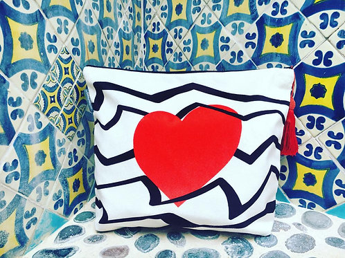 Red Heart Wash Bag