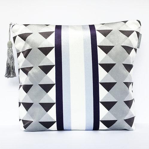 Blue Harlequin Stripe Wash Bag