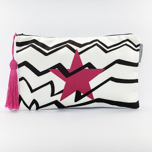 Pink Star Make Up Bag