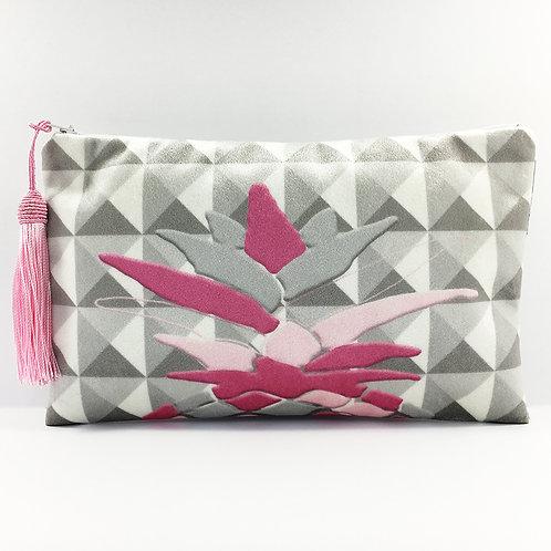 Pink Harlequin Pineapple Make Up Bag