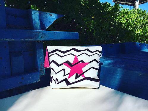 Pink Star Wash Bag