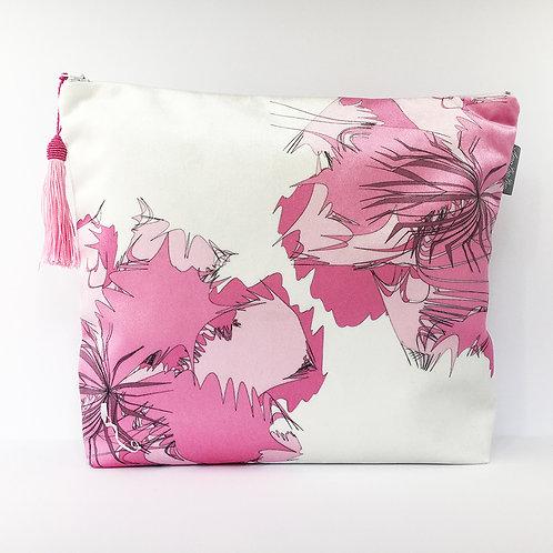 Pale Pink Flower Wash bag