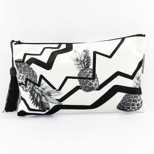 White Crazy Pineapple Make Up Bag