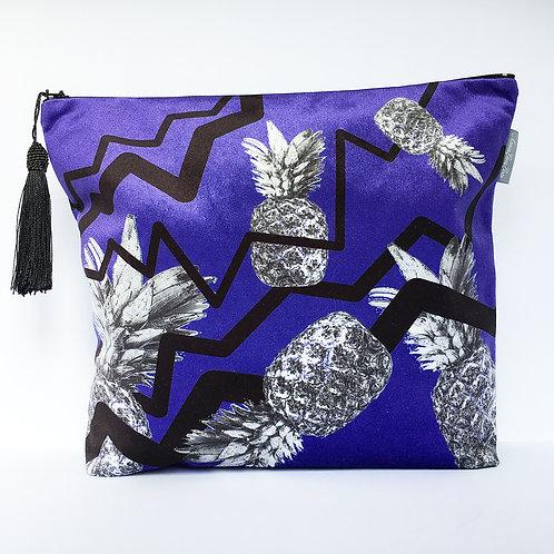 Purple Zig Zag Pineapple Wash Bag