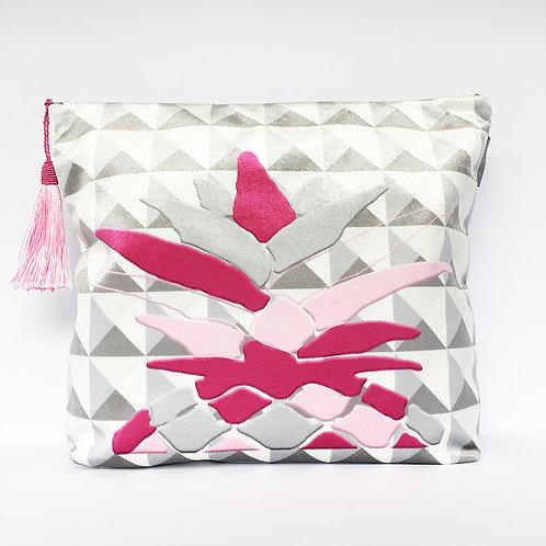 Pink Harlequin Pineapple Wash Bag