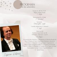 Concierto - Cyprien Katsaris - 22 de setembro