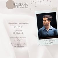 Concierto - Juan Pérez Floristán- 26 de setembro
