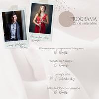 Concierto - János Palojtay e Dominika Ács - 27 de setembro